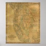El mapa de Bancroft de los estados pacíficos Póster