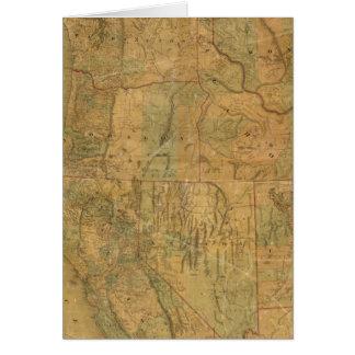 El mapa de Bancroft de los estados pacíficos Tarjetas