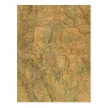 El mapa de Bancroft de los estados pacíficos Tarjeta Postal