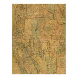 El mapa de Bancroft de los estados pacíficos Postal