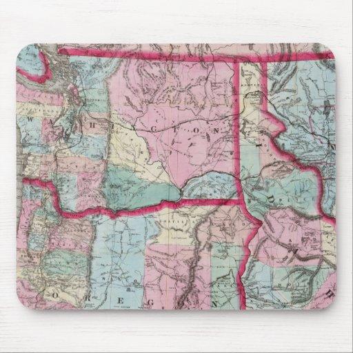 El mapa de Bancroft de Oregon, Washington, Idaho Tapetes De Ratones