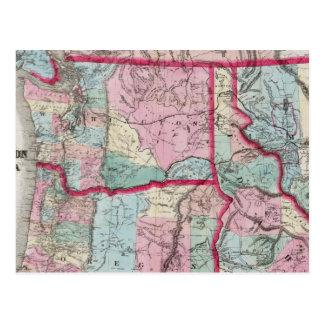 El mapa de Bancroft de Oregon, Washington, Idaho Postal
