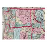 El mapa de Bancroft de Oregon, Washington, Idaho Tarjetas Postales