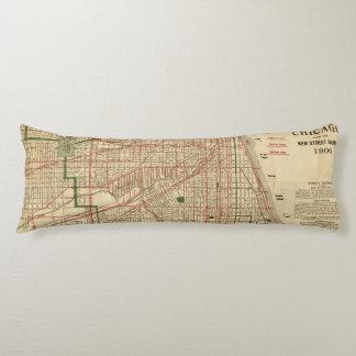 El mapa de Blanchard de Chicago Almohada