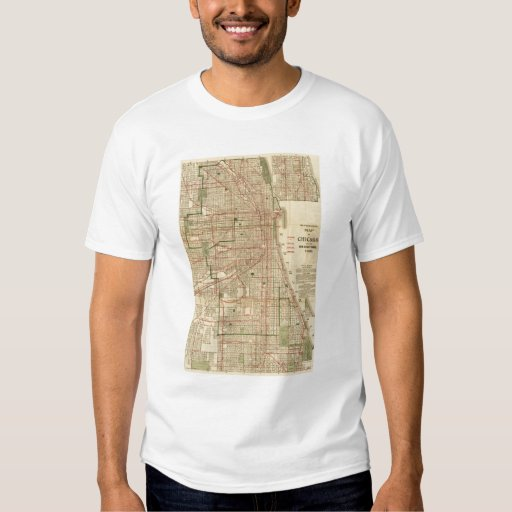 El mapa de Blanchard de Chicago Camisas