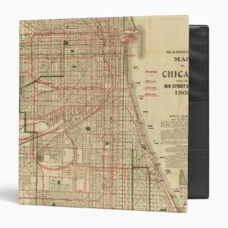"""El mapa de Blanchard de Chicago Carpeta 1 1/2"""""""