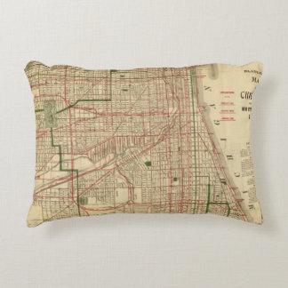 El mapa de Blanchard de Chicago Cojín