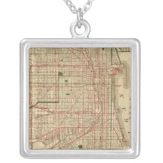 El mapa de Blanchard de Chicago Colgante Cuadrado