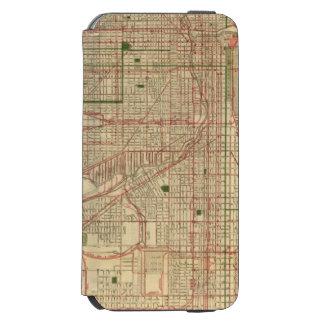 El mapa de Blanchard de Chicago Funda Billetera Para iPhone 6 Watson