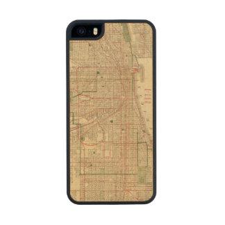 El mapa de Blanchard de Chicago Funda De Arce Carved® Para iPhone 5