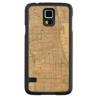 El mapa de Blanchard de Chicago Funda De Galaxy S5 Slim Arce