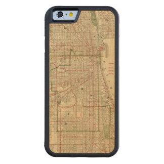 El mapa de Blanchard de Chicago Funda De iPhone 6 Bumper Arce