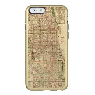El mapa de Blanchard de Chicago Funda Para iPhone 6 Plus Incipio Feather Shine