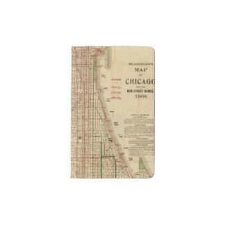 El mapa de Blanchard de Chicago Funda Para Libreta Y Libreta Pequeña Moleskine