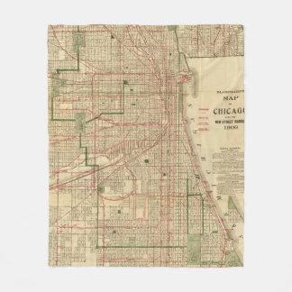El mapa de Blanchard de Chicago Manta De Forro Polar