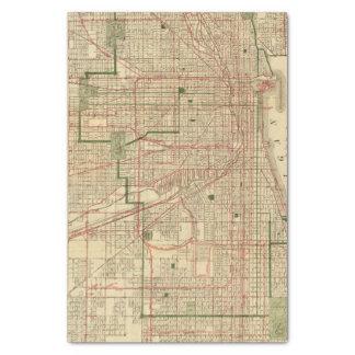 El mapa de Blanchard de Chicago Papel De Seda Pequeño