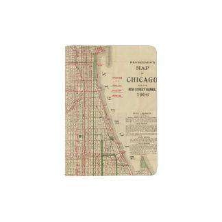 El mapa de Blanchard de Chicago Porta Pasaporte