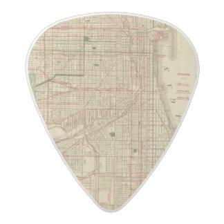 El mapa de Blanchard de Chicago Púa De Guitarra Acetal