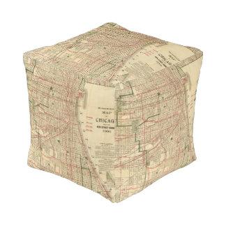 El mapa de Blanchard de Chicago Puff Cuadrado