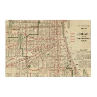 El mapa de Blanchard de Chicago Tapete Individual
