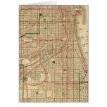 El mapa de Blanchard de Chicago Tarjeta De Felicitación