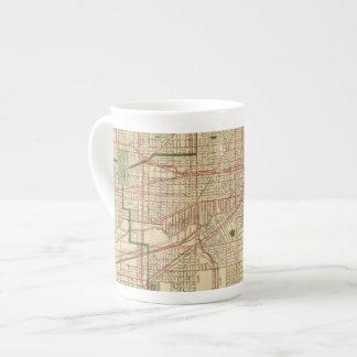 El mapa de Blanchard de Chicago Taza De Porcelana