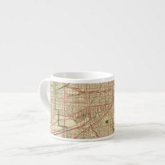 El mapa de Blanchard de Chicago Taza Espresso