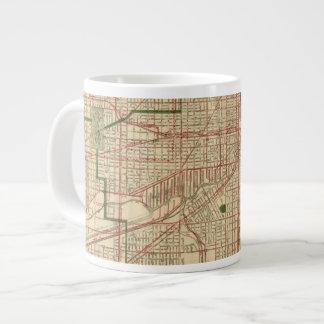 El mapa de Blanchard de Chicago Taza Grande
