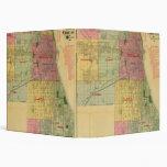 El mapa de Blanchard de Chicago y de alrededores