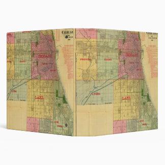 """El mapa de Blanchard de Chicago y de alrededores Carpeta 1 1/2"""""""