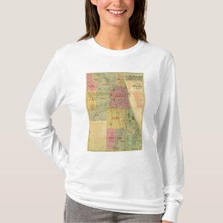 El mapa de Blanchard de Chicago y de alrededores Playera