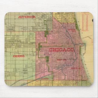 El mapa de Blanchard de Chicago y de alrededores Alfombrilla De Ratones