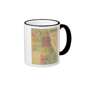 El mapa de Blanchard de Chicago y de alrededores Tazas De Café