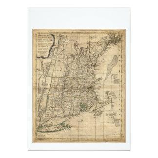 """El mapa de Bowles Seat de la guerra en Nueva Invitación 5"""" X 7"""""""