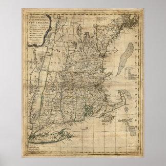 El mapa de Bowles Seat de la guerra en Nueva Póster