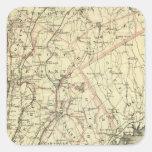 El mapa de conducción y que rueda de Colton de los Pegatina Cuadrada