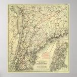 El mapa de conducción y que rueda de Colton de los Póster