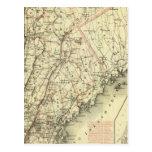 El mapa de conducción y que rueda de Colton de los Tarjetas Postales
