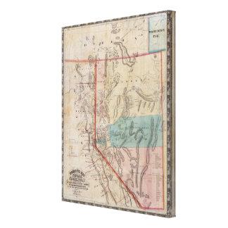 El mapa de DeGroot del territorio de Nevada Lona Envuelta Para Galerías