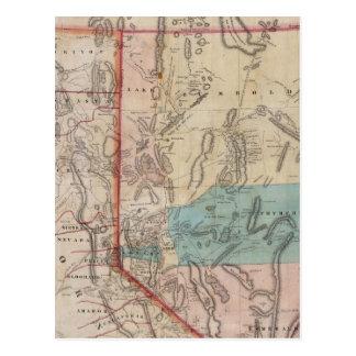 El mapa de DeGroot del territorio de Nevada Tarjetas Postales