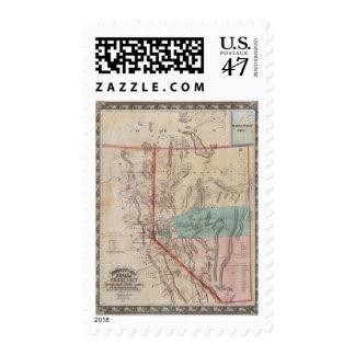 El mapa de DeGroot del territorio de Nevada Timbre Postal
