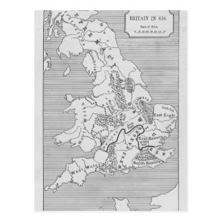 El mapa de Gran Bretaña produjo por Stanford Postal