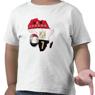El mapa de la bandera de Egipto de África 2010 gan Camiseta