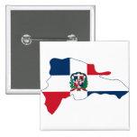 El mapa de la bandera de la República Dominicana H Pin