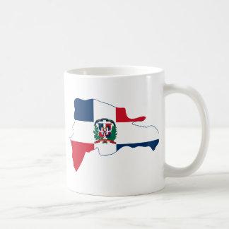 El mapa de la bandera de la República Dominicana Taza