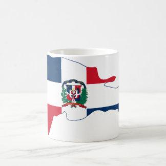 El mapa de la bandera de la República Dominicana Taza Clásica