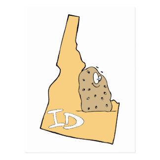 El mapa de la identificación de Idaho y la patata Postal