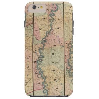 El mapa de Lloyd del río Misisipi más bajo Funda De iPhone 6 Plus Tough