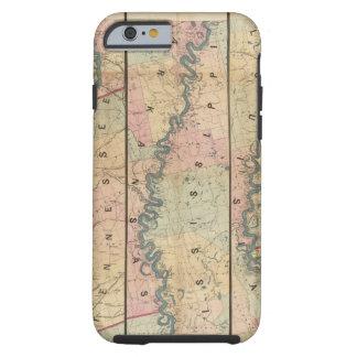 El mapa de Lloyd del río Misisipi más bajo Funda De iPhone 6 Tough