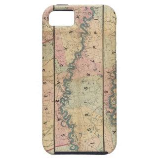 El mapa de Lloyd del río Misisipi más bajo iPhone 5 Carcasa